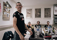 celebrating Bauke Mollema (NED/Trek-Segafredo) after his stage win back at the team hotel<br /> <br /> 104th Tour de France 2017<br /> Stage 15 - Laissac-Sévérac l'Église › Le Puy-en-Velay (189km)