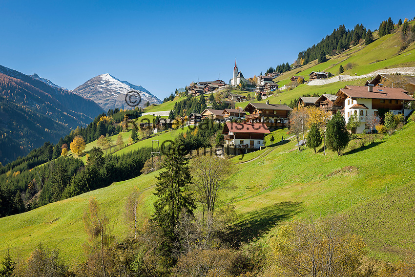 Austria, East-Tyrol, High Tauern National Park, St. Veith in Defereggen Valley and Villgratner mountains or Deferegger Alps | Oesterreich, Osttirol, Nationalpark Hohe Tauern, St. Veith im Defereggental und Villgratner Berge oder Deferegger Alpen