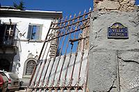 La casa crollata dei coniugi inglesi Henniker Gotley, morti durante il terremoto. I loro due figli sono stai ritrovati vivi<br /> The house of the english couple, the Henniker-Gotlin, died during the earthquake. Their two sons were rescued alive<br /> Sommati( Rieti ) 26-08-2016 Terremoto nel centro Italia, al confine tra Umbria Marche e Lazio<br /> Central Italy was struck by a earthquake of 6.2 magnitude during the early hours if August 24 2016 <br /> Foto Samantha Zucchi/Insidefoto