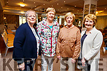 Supporting the Baile Mhuire Concert fundraiser in the Rose Hotel on Sunday evening.<br /> L to r: Mary Sinnott (Ardfert), Mary O'Sullivan (Banna), Peggy Sullivan (Ardfert) and Kathleen Clifford (Ardfert).