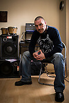 "© Joel Goodman - 07973 332324 . FILE PICTURE DATED 23/05/2013 . Manchester , UK . Musician NICKY LOCKETT (correct) (aka MC Tunes and Nicholas ) who has been awarded royalties for use of a sample he wrote , that was used in Fatboy Slim 's "" Gangster Tripping "" , by the PRS . The award is back-dated six years and applies in to the future . Photo credit : Joel Goodman"