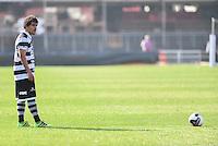 SÃO PAULO,SP, 31.07.2016 - SÃO PAULO-XV DE PIRACICABA - O jogador Romarinho do XV de Piracicaba durante partida válida pela 6ª (sexta) rodada da Copa Paulista 2016, no  no Estádio Cícero Pompeu de Toledo, o Morumbi, neste domingo, 31.  (Foto: Mauricio Bento/Brazil Photo Press)