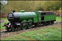 BNPS.co.uk (01202 558833)<br /> Pic:  BraybrookCollection/BNPS<br /> <br /> The Ivatt Atlantic Class.<br /> <br /> A late aristocrat's prized collection of model trains has sold for £244,000.<br /> <br /> Lord Braybrooke set up a miniature garden railway 55 years ago in the grounds of his stately home at Audley End House in Saffron Walden, Essex.<br /> <br /> He died in 2017 and his family parted with nine of his locomotives to raise funds to improve the railway's facilities so it can keep running for future generations.