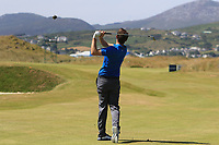 Ashley Chesters (ENG) on the 9th fairway during the Preview of the Irish Open at Ballyliffin Golf Club, Donegal on Tuesday 3rd July 2018.<br /> Picture:  Thos Caffrey / Golffile