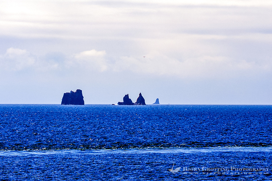 Vestmannaeyjar Islands off the south coast of Iceland. Rocks close to Heimaey.