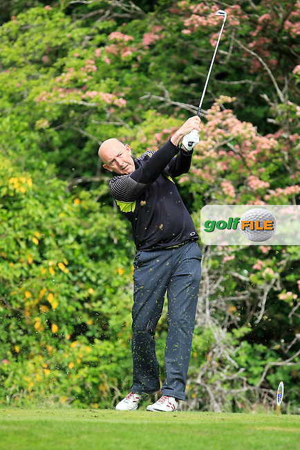 Tony McClements (Holywood) on the 2nd tee during Round 3 of the Irish Mid-Amateur Open Championship at New Forest on Sunday 21st June 2015.<br /> Picture:  Thos Caffrey / www.golffile.ie
