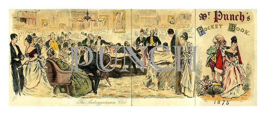 Mr Punch's Pocket Book 1875. The Androgynaeceum Club.
