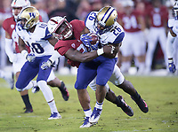 Stanford, Ca. - November 10, 2017: The Stanford Cardinal vs the Washington Huskies in Stanford Stadium. Final score Stanford Cardinal 30, Washington Huskies 22.