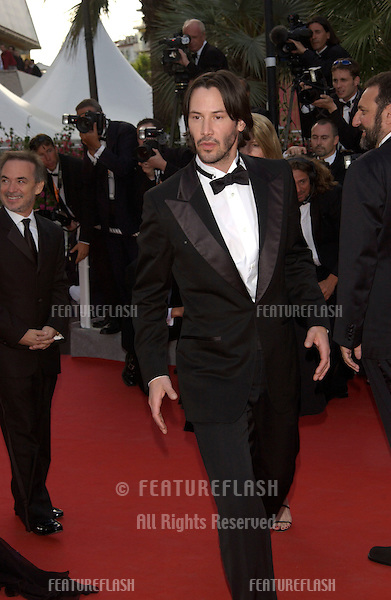 Actor KEANU REEVES at the screening of his new movie The Matrix Reloaded at the Cannes Film Festival..15MAY2003