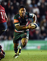Manu Tuilagi of Leicester Tigers in possession. European Rugby Champions Cup match, between Leicester Tigers and Munster Rugby on December 17, 2017 at Welford Road in Leicester, England. Photo by: Patrick Khachfe / JMP