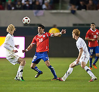 CARSON, CA – JANUARY 22: Chile forward Daud Gazale (10) during the international friendly match between USA and Chile at the Home Depot Center, January 22, 2011 in Carson, California. Final score USA 1, Chile 1.
