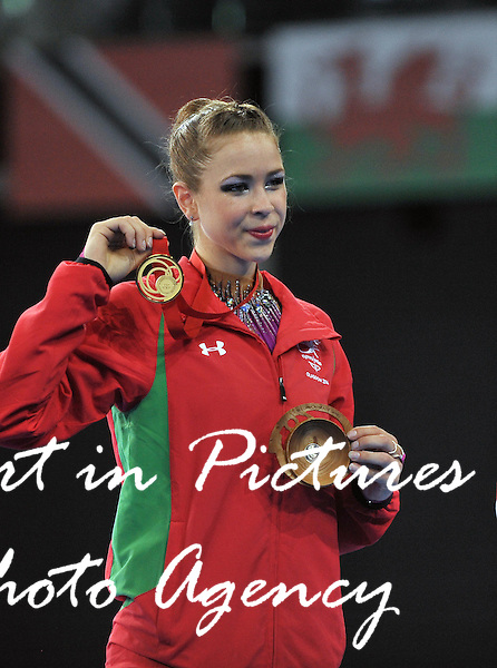 Francesca Jones (WAL) wins the gold medal in the ribbon final. Rythmic Gymnastics. PHOTO: Mandatory by-line: Garry Bowden/SIPPA/Pinnacle - Tel: +44(0)1363 881025 - Mobile:0797 1270 681 - VAT Reg No: 183700120 - 260714 - Glasgow 2014 Commonwealth Games - Hydro Centre, Glasgow, Scotland, UK