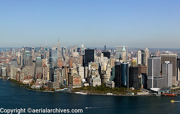 aerial photograph Battery Park, downtown Manhattan, New York City