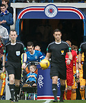 Lee Wallace and the match mascot