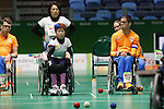 Yuriko Fujii (JPN),<br /> SEPTEMBER 10, 2016 - Boccia : <br /> Mixed Team BC1/BC2<br /> Group stage match between Japan 6-3 Netherlands<br /> at Carioca Arena 2<br /> during the Rio 2016 Paralympic Games in Rio de Janeiro, Brazil.<br /> (Photo by Shingo Ito/AFLO)