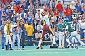 Washington Redskins wide receiver Art Monk (81) makes one of his five receptions during the game against the Philadelphia Eagles at Veterans Stadium in Philadelphia, Pennsylvania on November 8, 1987.  The Eagles won the game 31 - 27.<br /> Credit: Arnie Sachs / CNP