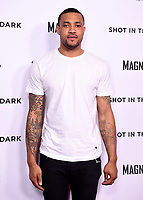"""WEST HOLLYWOOD - FEBRUARY 15: Marquise Pryor arrives for the LA screening of Fox Sports """"Shot in the Dark"""" at the Pacific Design Center on February 15, 2018 in West Hollywood, California.(Photo by Frank Micelotta/Fox/PictureGroup)"""