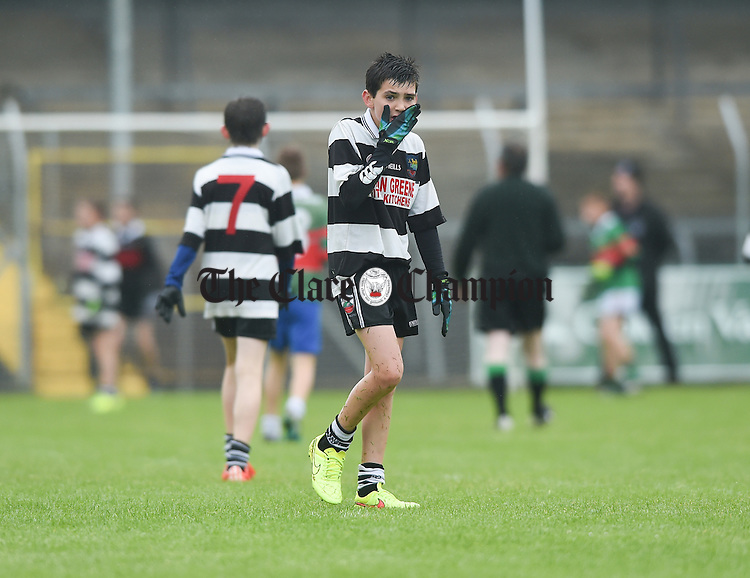 Noel Copley during the U-12 football finals in Cusack park. Photograph by John Kelly.