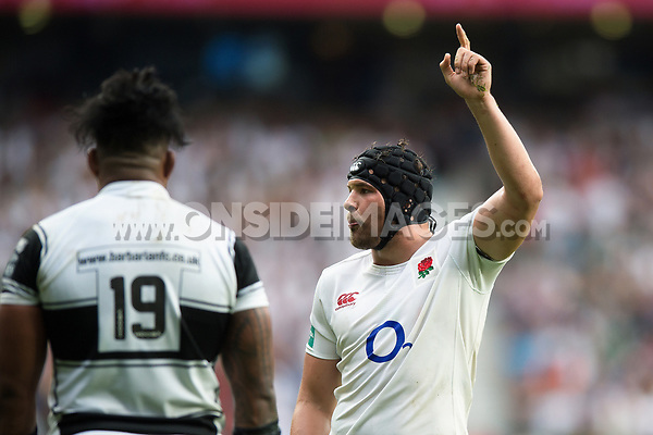 Charlie Ewels of England. Old Mutual Wealth Cup International match between England and the Barbarians on May 28, 2017 at Twickenham Stadium in London, England. Photo by: Patrick Khachfe / Onside Images