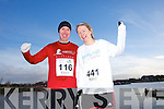 Stephen Griffin and Fiona Enright at the Valentines 10 mile road race in Tralee on Saturday.