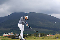 Ellen Hutchinson-Kay (SWE) on the 2nd tee during Round 1 of the Women's Amateur Championship at Royal County Down Golf Club in Newcastle Co. Down on Tuesday 11th June 2019.<br /> Picture:  Thos Caffrey / www.golffile.ie<br /> <br /> All photos usage must carry mandatory copyright credit (© Golffile | Thos Caffrey)