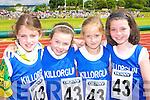 Killorglin athletes at the Denny County Community Games in An Riocht Castleisland on Sunday l-r: Caoimhe Hassett, Caithlyn O'Brien, Sarah Clifford and Orla Healy    Copyright Kerry's Eye 2008