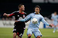 Perry Kitchen, Roger Espinoza.  Sporting KC defeated D.C. United, 1-0, at RFK Stadium in Washington, DC.
