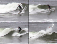 The surfing experience in four images.