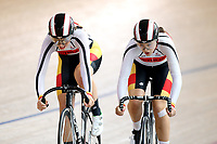 Emily Paterson and Helena Rikiti of Southland compete in the U17 Girls 500m Team Sprint final at the Age Group Track National Championships, Avantidrome, Home of Cycling, Cambridge, New Zealand, Sunday, March 19, 2017. Mandatory Credit: © Dianne Manson/CyclingNZ  **NO ARCHIVING**