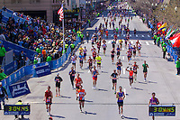 Part of the 24,338 runners that started the 115th. running of the Boston marathon on Monday, April 18th. 2011. Photo by Errol Anderson, The Sporting Image.net