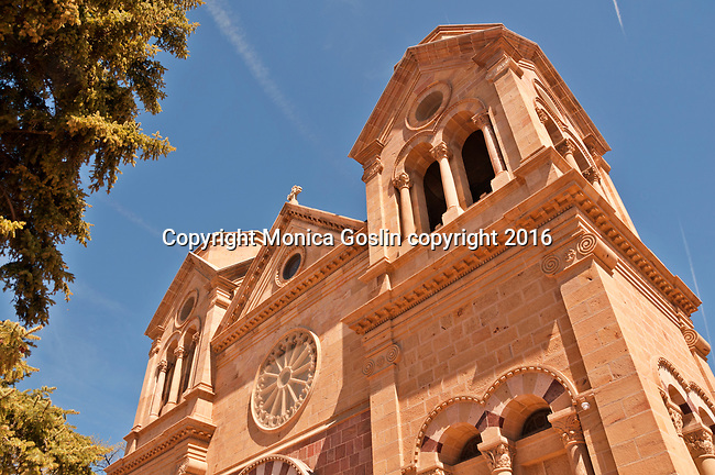 Cathedral Basilica of St. Francis of Assisi on East San Francisco Street in Santa Fe, New Mexico