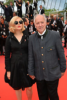 "CANNES, FRANCE. May 19, 2019: Werner Herzog & Lena Herzog at the gala premiere for ""A Hidden Life"" at the Festival de Cannes.<br /> Picture: Paul Smith / Featureflash"