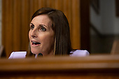 United States Senator Martha McSally (Republican of Arizona) questions Air Force General John Hyten, who is nominated to become Vice Chairman Of The Joint Chiefs Of Staff, during his confirmation hearing before the U.S. Senate Committee on Armed Services on Capitol Hill in Washington D.C., U.S. on July 30, 2019. <br /> <br /> Credit: Stefani Reynolds / CNP