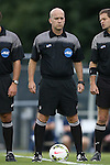 12 September 2014: Referee Mike Stuff. The University of North Carolina Tar Heels hosted the Pittsburgh University Panthers at Fetzer Field in Chapel Hill, NC in a 2014 NCAA Division I Men's Soccer match. North Carolina won the game 3-0.