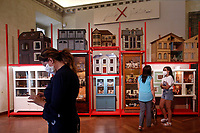 Antique dollhouses<br /> Antique toys exposed at Palazzo Braschi during the Exhibition 'For fun. Collection of antique toys of Capitoline Superintendency'.<br /> Rome (Italy), July 24th 2020