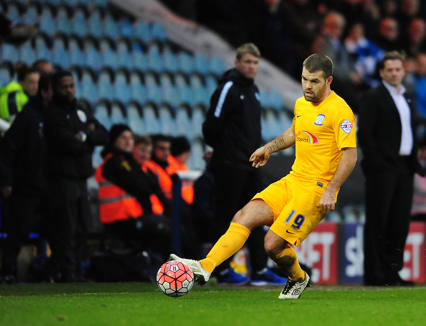 Preston North End's John Welsh<br /> <br /> Photographer Chris Vaughan/CameraSport<br /> <br /> Football - The FA Cup Third Round - Peterborough United v Preston North End - Saturday 9th January 2016 - ABAX Stadium - Peterborough <br /> <br /> &copy; CameraSport - 43 Linden Ave. Countesthorpe. Leicester. England. LE8 5PG - Tel: +44 (0) 116 277 4147 - admin@camerasport.com - www.camerasport.com
