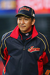 Kazuyoshi Tatsunami (JPN), .February 26, 2013 - WBC : .2013 World Baseball Classic, Exhibithion Game .match between Japan 0-1 Hanshin Tigers  .at Kyocera Dome, Osaka, Japan..(Photo by AJPS/AFLO SPORT)