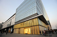 Gucci store at Shin Kong Place, which is one of the most luxurious shopping centers in Beijing, having successfully attracted 938 international class brands, they also boast the largest Gucci flagship store in Asia..