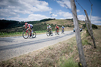 breakaway group with Thomas de Gendt (BEL/Lotto-Soudal), Ben King (USA/Dimension Data), Alessandro De Marchi (ITA/CCC) & Niki Terpstra (NED/Total - Direct Energie)<br /> <br /> Stage 8: Mâcon to Saint-Étienne (200km)<br /> 106th Tour de France 2019 (2.UWT)<br /> <br /> ©kramon