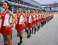 CINGAPURA, CINGAPURA, 23 SETEMBRO 2012 - F1 GP DE CINGAPURA - <br /> Modelos durante o  GP de Cingapura de F&oacute;rmula 1, em Cingapura, neste domingo, 23. (FOTO: PIXATHLON / BRAZIL PHOTO PRESS).