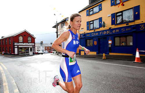 03 JUL 2010 - ATHLONE, IRL - Niki Treacy on her way to winning the Womens 45-49 category at the European Age Group Sprint Triathlon Championships (PHOTO (C) NIGEL FARROW)