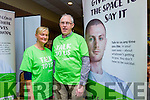At Open Our Minds Mental Wellness Exhibition in the Brandon Hotel on Sunday were Joan Curtin and Pat O'Connor from the Samaritans.
