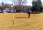 WATERBURY, CT. 12 January 2020-011220BS376 -  Bill Cremins of Middlebury lips out on his final hole of the day as he enjoys the warm temperatures by playing a round of golf in January at the Waterbury Country Club on Sunday. Temperatures reaches into the 60's for the second day in a row. Bill Shettle Republican-American