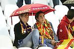04 June 2008: Unidentified Spain fans hope the pregame rain stops. The Spain Men's National Team defeated the United States Men's National Team 1-0 at Estadio Municipal El Sardinero in Santander, Spain in an international friendly soccer match.