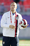 11 July 2007: USA's Chris Seitz, pregame. The Under-20 Men's National Team of the United States defeated Uruguay's Under-20 Men's National Team 2-1 after extra time in a  round of 16 match at the National Soccer Stadium (also known as BMO Field) in Toronto, Ontario, Canada during the FIFA U-20 World Cup Canada 2007 tournament.