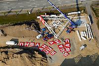 Bauhaus: EUROPA, DEUTSCHLAND, SCHLESWIG-HOLSTEIN, (EUROPE, GERMANY), 25.04.2007: Barsbuettel, Bauhaus, Neubau,  Luftbild, Luftansicht, Deutschland, Europa, Schleswig- Holstein, Aufwind-Luftbilder, Buchstaben, Heimwerker, Markt, Eroeffnung, Neu, .c o p y r i g h t : A U F W I N D - L U F T B I L D E R . de.G e r t r u d - B a e u m e r - S t i e g 1 0 2, .2 1 0 3 5 H a m b u r g , G e r m a n y.P h o n e + 4 9 (0) 1 7 1 - 6 8 6 6 0 6 9 .E m a i l H w e i 1 @ a o l . c o m.w w w . a u f w i n d - l u f t b i l d e r . d e.K o n t o : P o s t b a n k H a m b u r g .B l z : 2 0 0 1 0 0 2 0 .K o n t o : 5 8 3 6 5 7 2 0 9.C o p y r i g h t n u r f u e r j o u r n a l i s t i s c h Z w e c k e, keine P e r s o e n l i c h ke i t s r e c h t e v o r h a n d e n, V e r o e f f e n t l i c h u n g  n u r  m i t  H o n o r a r  n a c h M F M, N a m e n s n e n n u n g  u n d B e l e g e x e m p l a r !.