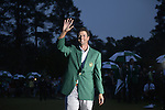 AUGUSTA, GA - MARCH 23: Adam Scott of Australia receives his green jacket during after winning the 2013 Masters Tournament held in Augusta, Georgia at Augusta National Golf Club on Sunday, April 14, 2013. (Photo by Donald Miralle for Golf Digest..