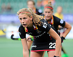 The Hague, Netherlands, June 05: Stephanie Vanden Borre #22 of Belgium during the field hockey group match (Women - Group A) between Belgium and Australia on June 5, 2014 during the World Cup 2014 at Kyocera Stadium in The Hague, Netherlands. Final score 2:3 (1:1) (Photo by Dirk Markgraf / www.265-images.com) *** Local caption ***