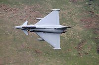 Typhoon fighter jet at Bwlch, Wales