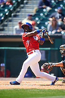 Buffalo Bisons outfielder Melky Mesa (11) at bat during a game against the Louisville Bats on May 2, 2015 at Coca-Cola Field in Buffalo, New York.  Louisville defeated Buffalo 5-2.  (Mike Janes/Four Seam Images)